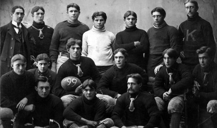 Picture of a football team photo from 1899